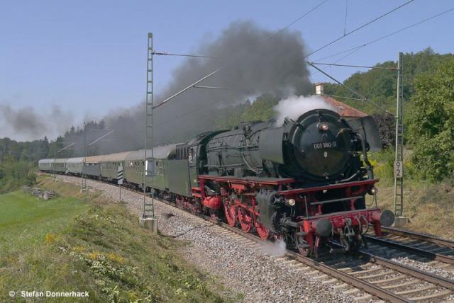 """Dampfschnellzug """"Oberpfalz"""" mit der Schnellzugdampflok 001 180-9"""
